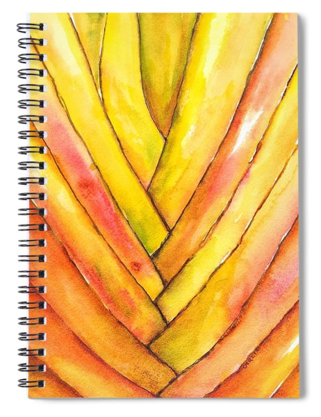 Golden Travelers Palm Trunk Spiral Notebook