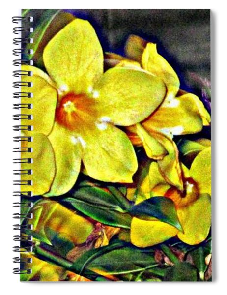 Golden Trumpets Spiral Notebook