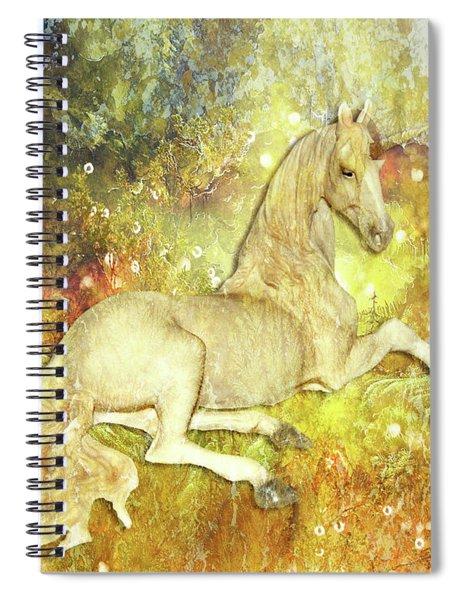 Golden Unicorn Dreams Spiral Notebook