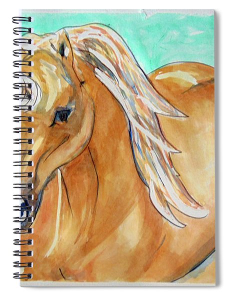 Golden Unicorn Spiral Notebook