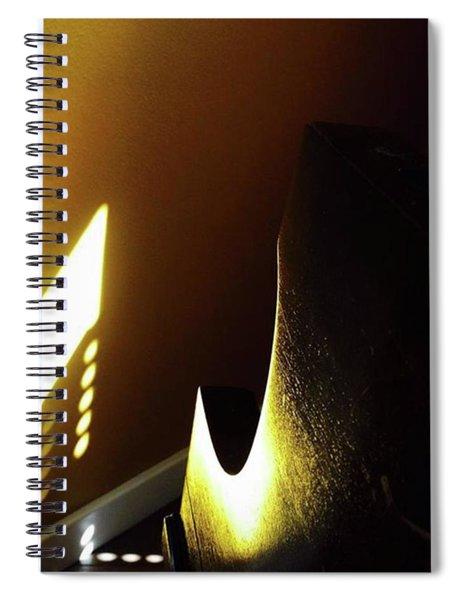 Golden Wall, Morning Sun, Reflection Spiral Notebook