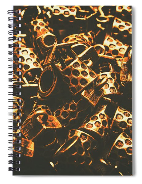 Golden Wells Spiral Notebook