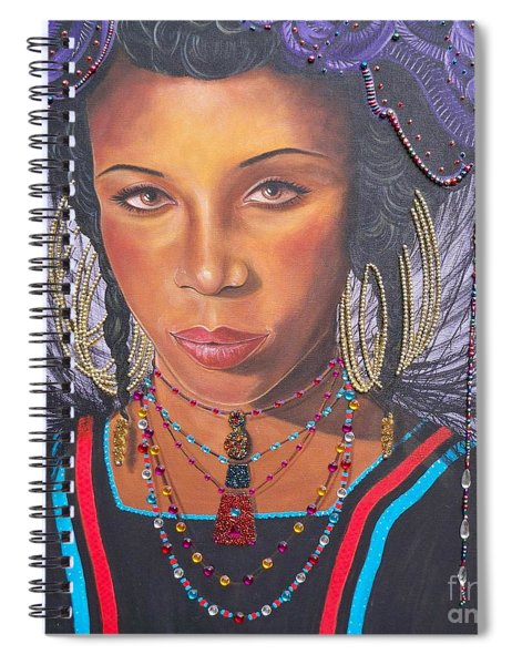 Gracious Golden Wodaabe Girl           From The Attitude Girls  Spiral Notebook