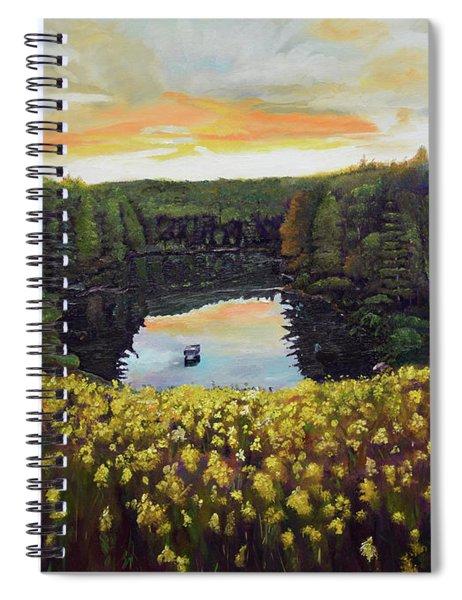 Goldenrods On Davenport Lake-ellijay, Ga  Spiral Notebook
