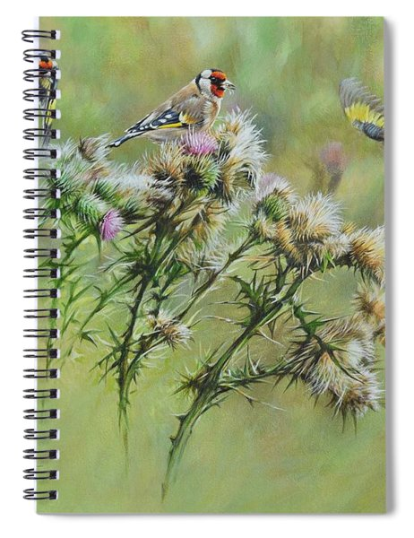 Goldfinches On Thistle Spiral Notebook