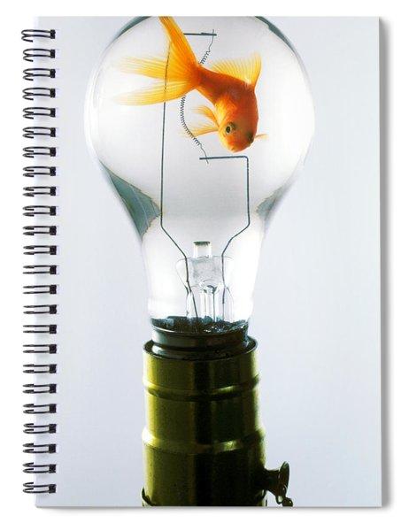Goldfish In Light Bulb  Spiral Notebook