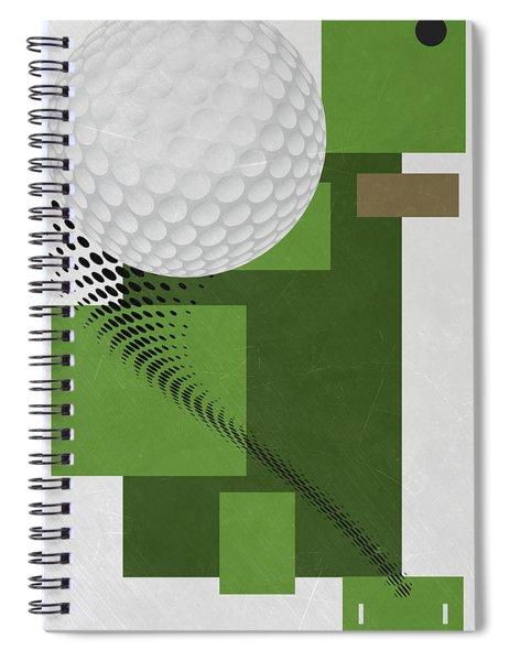 Golf Art Par 4 Spiral Notebook