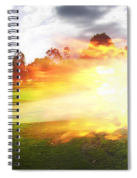 Golf Ball On Fire Spiral Notebook