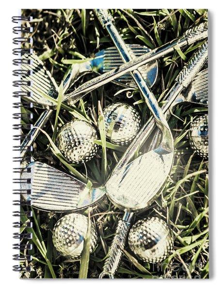Golf Chrome Spiral Notebook