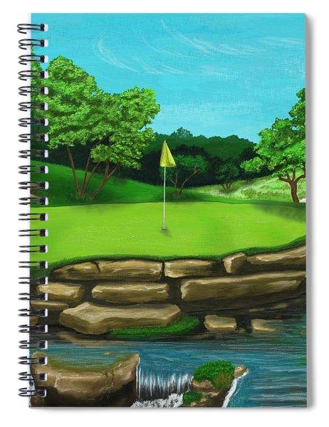 Golf Green Hole 16 Spiral Notebook