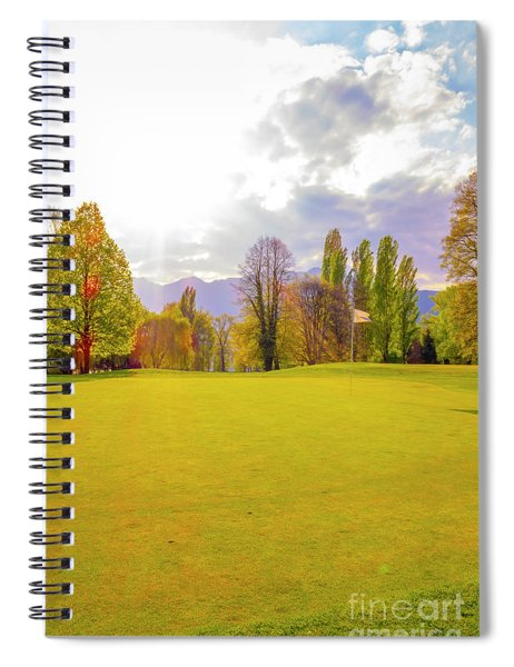 Golf Green Spiral Notebook