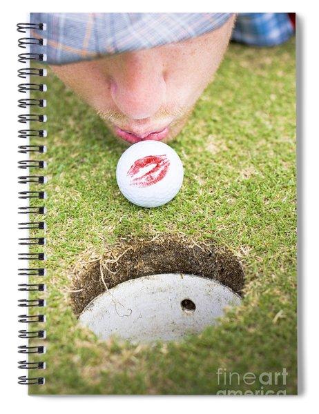 Golf Love At First Flight Spiral Notebook