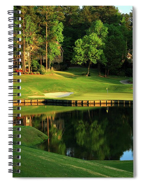 Golf The Landing #3 Reynolds Plantation Lake Oconee Ga Art Spiral Notebook