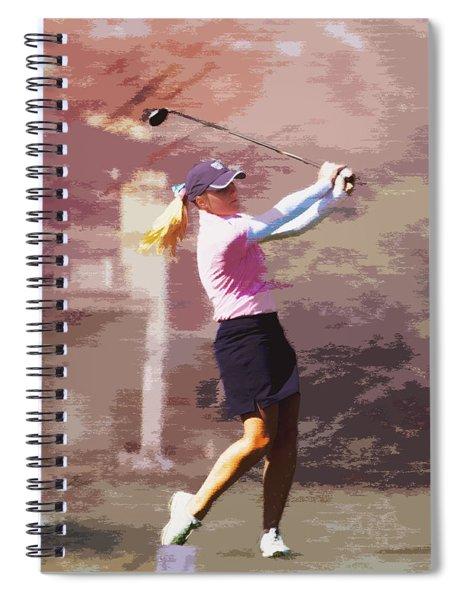 Golfer Spiral Notebook
