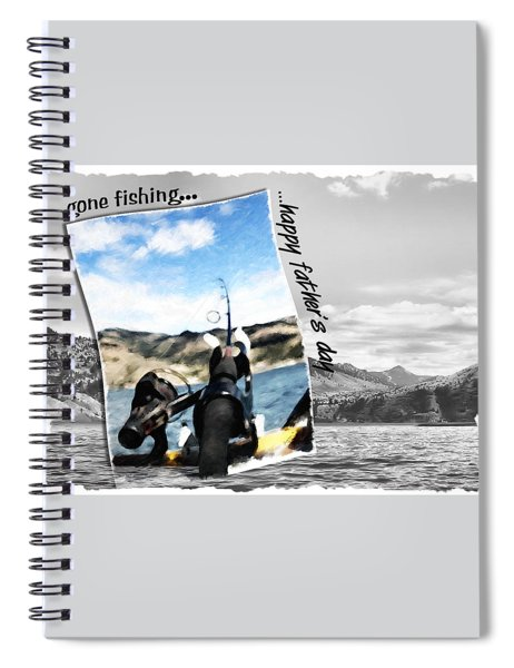 Gone Fishing Father's Day Card Spiral Notebook