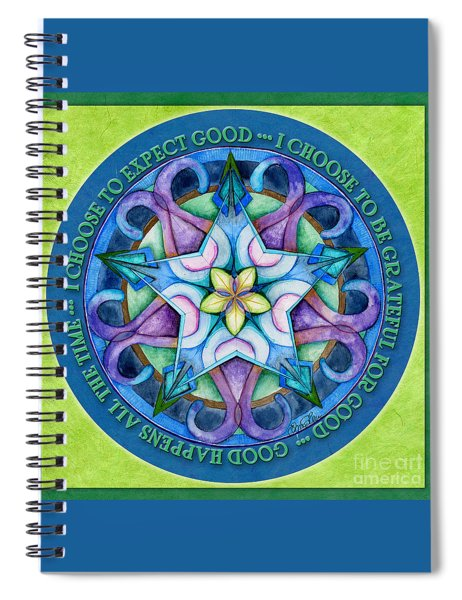 Good Happens Mandala Prayer Spiral Notebook