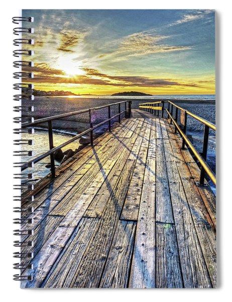 Good Harbor Beach Footbridge Shadows Spiral Notebook