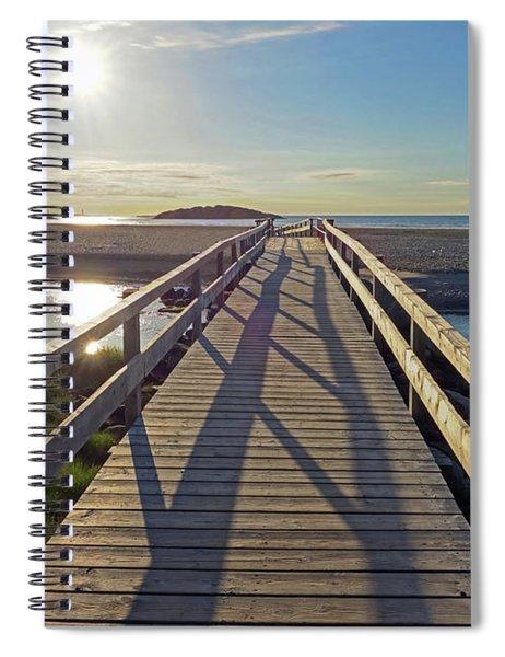 Good Harbor Beach Footbridge Sunny Shadow Spiral Notebook