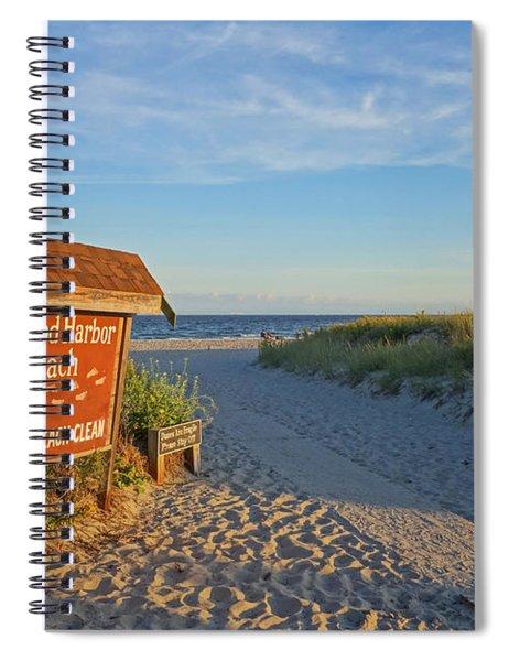 Good Harbor Sign At Sunset Spiral Notebook