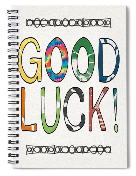Good Luck Card- Art By Linda Woods Spiral Notebook
