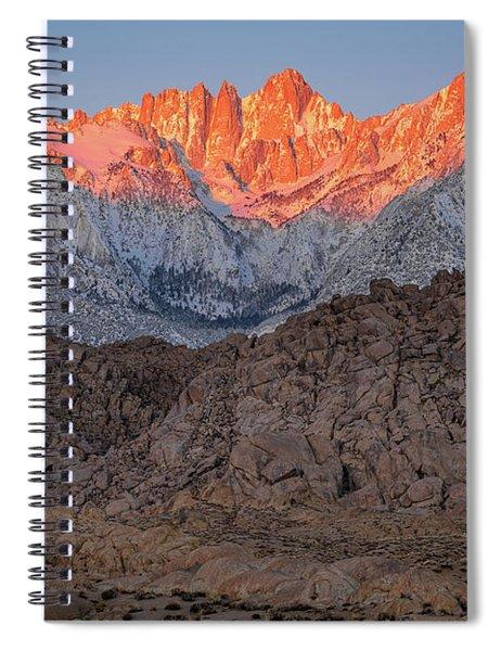 Good Morning Mount Whitney Spiral Notebook