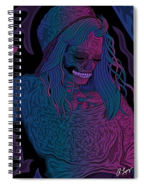 Good Vibes Skelegirl Spiral Notebook