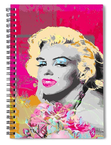 Spiral Notebook featuring the digital art Goodbye Norma Jean  by Eleni Mac Synodinos