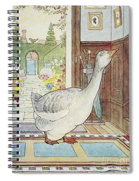 Goosey, Goosey Gander, Where Shall I Wander Spiral Notebook