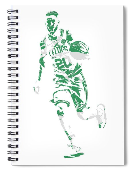 Gordon Hayward Boston Celtics Pixel Art 10 Spiral Notebook