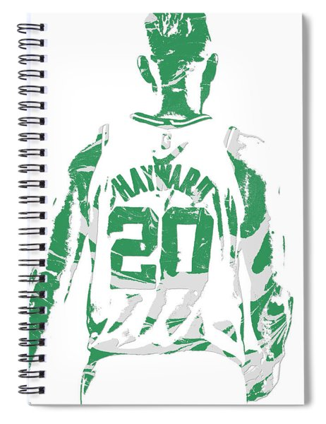 Gordon Hayward Boston Celtics Pixel Art T Shirt 5 Spiral Notebook