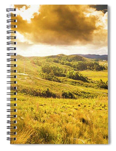 Gorgeous Golden Sunset Field  Spiral Notebook