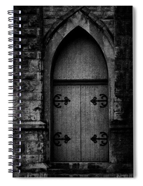 Gothic Door Memphis Church Bw Spiral Notebook