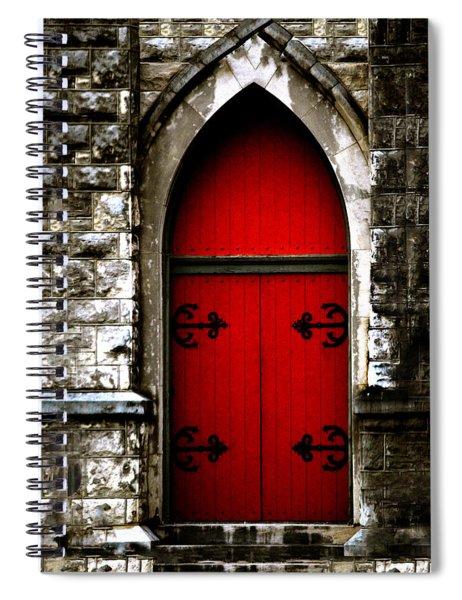 Gothic Red Door Memphis Church Spiral Notebook