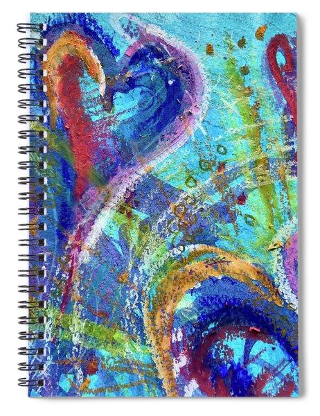 Graceful Hearts Spiral Notebook