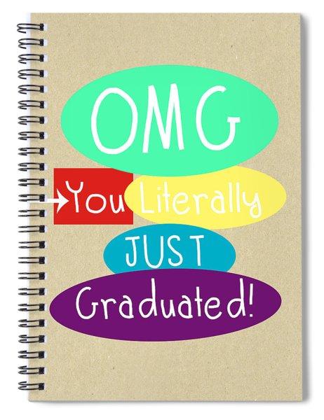 Graduation Card Spiral Notebook
