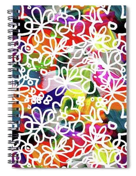 Graffiti Garden 2- Art By Linda Woods Spiral Notebook