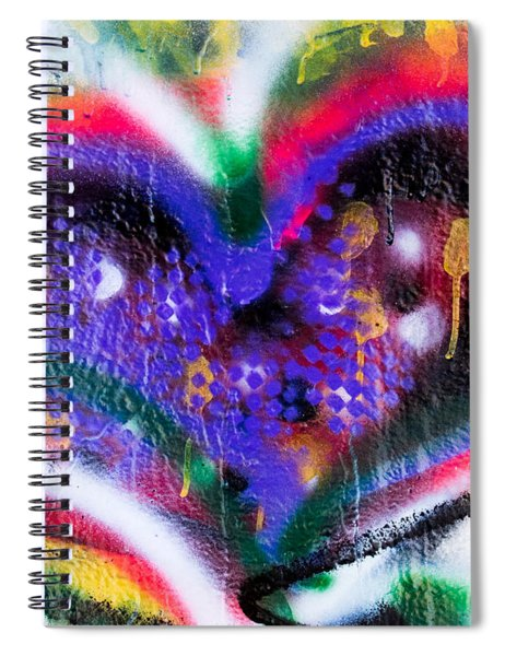 Graffiti Heart Spiral Notebook