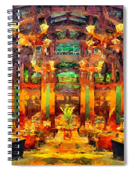 Grand Californian Resort Lobby Spiral Notebook