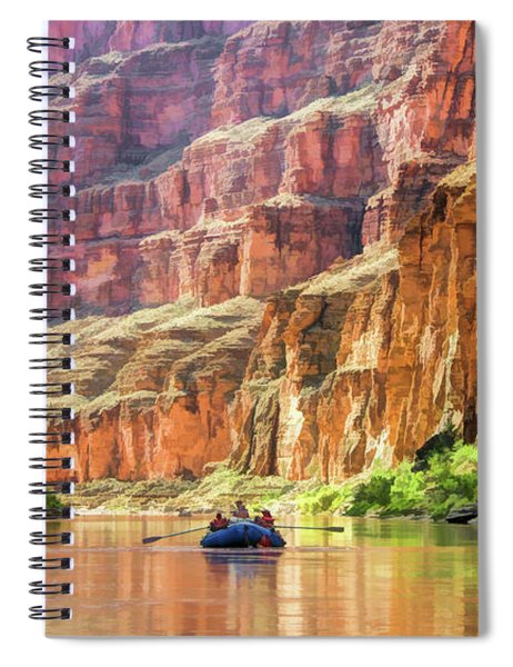 Grand Canyon Colorado River Rafting Spiral Notebook