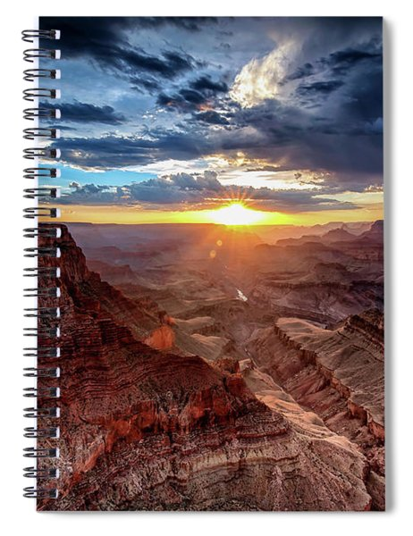 Grand Canyon Sunburst Spiral Notebook