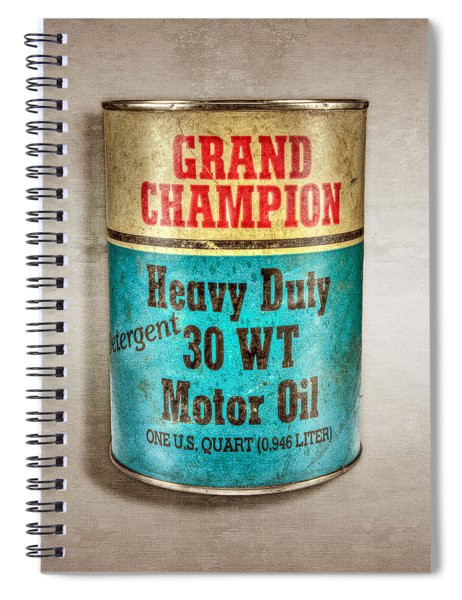 Grand Champion Motor Oil Spiral Notebook