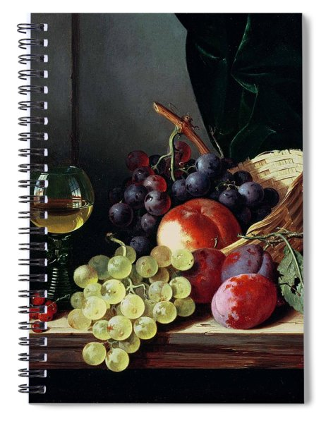 Grapes And Plums Spiral Notebook