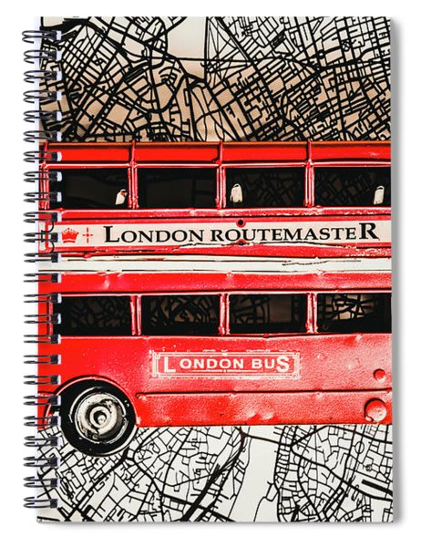 Graphic Of Great Britain Spiral Notebook