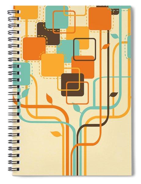 Graphic Tree Spiral Notebook
