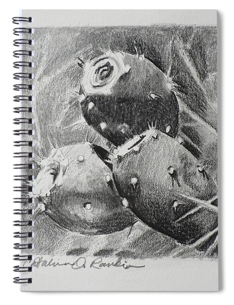 Graphite Prickly Pears Spiral Notebook