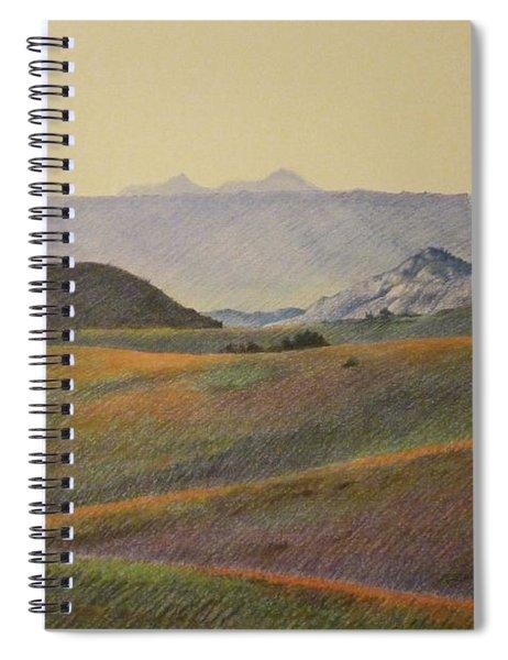 Grasslands Badlands Panel 2 Spiral Notebook
