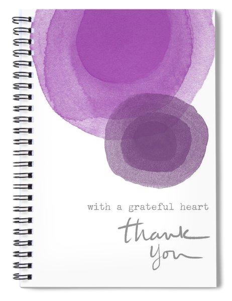 Grateful Heart Thank You- Art By Linda Woods Spiral Notebook