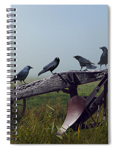 Gratitude Of The Crows Spiral Notebook