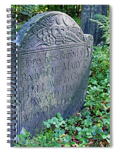 Grave Of Mary Hall Spiral Notebook