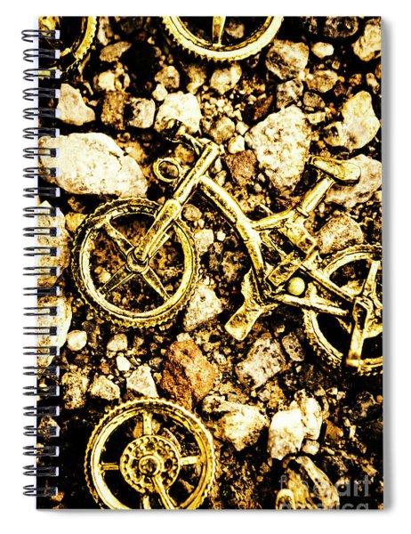 Gravel Bikes Spiral Notebook
